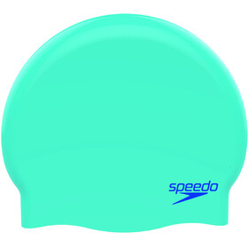 speedo Plain Moulded Silicone Cap Barn blue